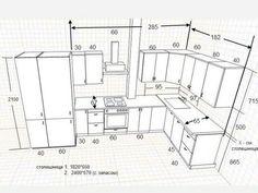 Standard Kitchen Dimensions And Layout - Engineering Discoveries - Kitchen Ideas Kitchen Size, Kitchen Room Design, Kitchen Cabinet Design, Modern Kitchen Design, Home Decor Kitchen, Interior Design Kitchen, Kitchen Furniture, Kitchen Cabinets, Kitchen Cabinet Dimensions