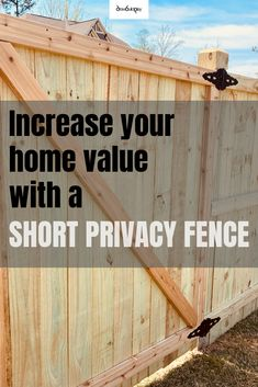 Short privacy fence to give you some privacy in the backyard. This fence not only looks good, but gives you kids a safe play area and a place for you to entertain your guests.