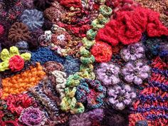 close up of my freeform knit & crochet wallhanging by freeform by prudence, via Flickr