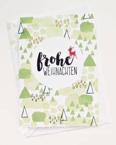 rieslingmama: christmas card set - flora and fauna