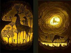 Paper cut light boxes ( by Hari & Deepti)