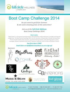Ginkgo Spas is excited to be part of the Full Circle Wellness Boot Camp Challenge 2014! We have sponsored Back, Neck  and Shoulder Massages as prizes for all those poor, hard working athletes! Who will be the winner of such a deserving prize?