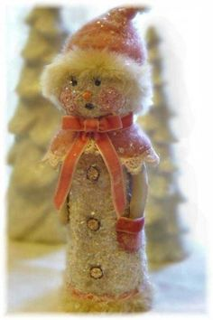 Nancy Malay's Victorian Whimsies...  Other snowmen crafts to make in Christmas board ~~