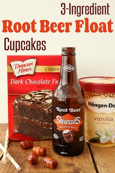 If you love root beer floats, wait until you see these cupcakes! float cupcak, rootbeer float, root beer