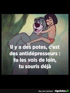 Il y a des potes c'est des antidépresseurs, tu les vois de loin tu souris déjà !!