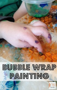 Painting on Bubble Wrap. A fun process art project for toddlers and preschoolers.