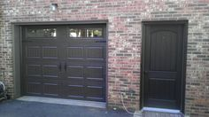 Image result for brown brick and black roof