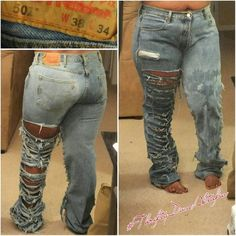 #2sides destroyed/bleached Levis #plus #2sides destroyed/bleached Levis #plus Levi's Jeans