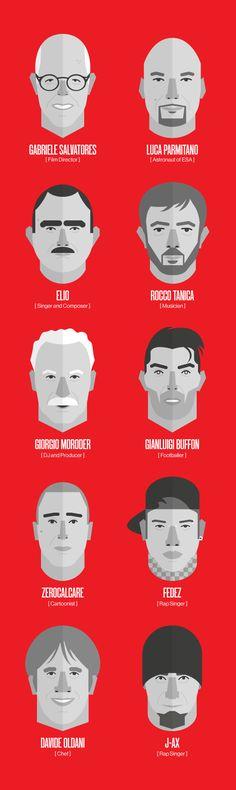 WIRED Next Fest 14 - Faces by Loris F. Alessandria, via Behance #grafica #illustrazione ITALIAN PEOPLE
