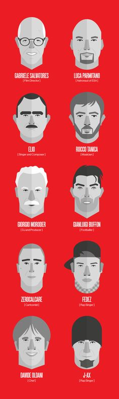 WIRED Next Fest 14 - Faces by Loris F. Alessandria, via Behance #grafica #illustrazione ITALIAN PEOPLE