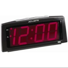 Ivation Big Time Digital LED Clock Table or Wall Clock