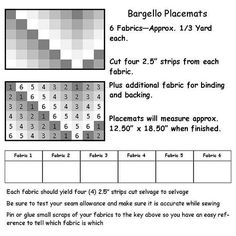 Bargello Placemat Quilt Along – Part 1 – Fabric Selection, cutting and Strip Piecing | Katie's Quilting Corner