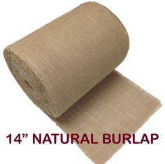 AK Trading 14' Natural Burlap Roll Fringed  #HomeDecorTips