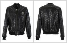 Iconic leather jacket covered in embossed skull and bone logos all over. Wear this statement jacket with everything, to add a glamour to any outfit.  #PhilippPleinLeatherJacket  http://www.boudifashion.com/new-in-designer-fashion/departments/mens-designer-clothes/philipp-plein-sooner-leather-jacket.html  #PhilippPlein #Fashion #Designer #Shopping #Classy #Celebs #StyleLove #BoudiFashion #Fashion #Shopping #Skull #Cool