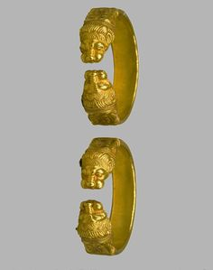 Scythian gold bracelets 4th cent BC The Musseum of Russia