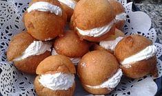 Mini-koblížky z kondenzovaného mléka Pretzel Bites, Hamburger, Muffin, Food And Drink, Bread, Breakfast, Mini, Brot, Hamburgers