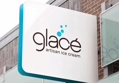 """Glace Artisan Ice Cream branding by Stir.    Kansas City-based Glace (say it this way, """"Gla-say"""") Artisan Ice Cream is a more grown-up sweet treat expression, rich in texture and inventive flavors like Venezuelan dark chocolate, fleur de sel caramel and pineapple-cilantro sorbet. The corresponding brand expression is clean, sophisticated and a nod to the owner's love of modern minimalism. At the same time, copy and color palette make it feel fun and approachable. The logo also incorporates a…"""