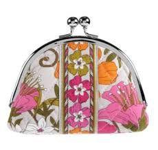 031544b184 Vera Bradley Double Kiss coin purse Tea Garden NWT Retired