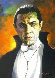 Bela Lugosi as Dracula by Basil Gogos Vincent Price, Classic Horror Movies, Horror Films, Classic Cartoons, Arte Horror, Horror Art, Horror Comics, Lugosi Dracula, The Frankenstein