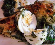 Huevos con espinacas a la crema