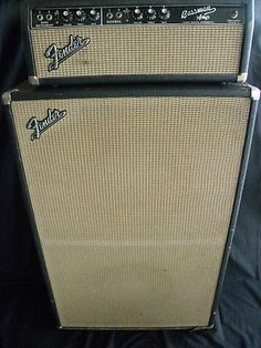 "1966 Fender Blackface Bassman Vintage Amp. I had a head (top part) like this in 1973 and used it to plug up microphones for my band-""The Doomsday Jury""-Daveo"