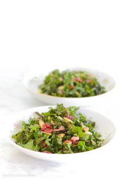 Kale Salad with Cherry Almond Vinaigerette Recipe is delicious, and healthy— Cooking, Gardening and Living a Healthy Life