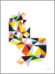 Origami by Little Studio Surface Pattern Design, Pattern Art, Print Patterns, Geometry Pattern, Poster Prints, Art Prints, Graphic Design Art, Geometric Art, Illustration Art