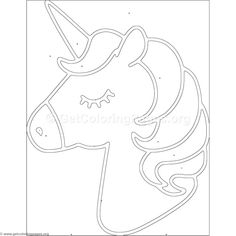 Color by Number Unicorn Coloring Pages Unicorn Coloring Pages, Coloring Pages For Kids, Coloring Books, Alphabet Coloring, Coloring Sheets, Adult Coloring, Unicorn Stencil, Unicorn Themed Birthday, Birthday Kids