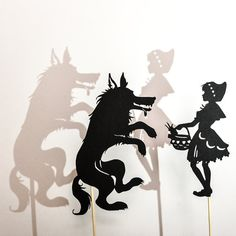Little Red Riding Hood Shadow Puppet Set: Six by adventureinabox