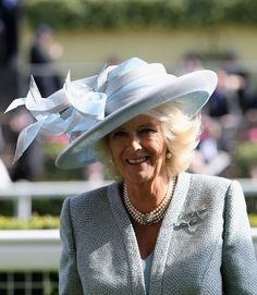 Duchess of Cornwall, June 17, 2014 in Philip Treacy | Royal Hats.... Royal Ascot Day 1: The British Royal Family....Posted on June 18, 2014 by HatQueen