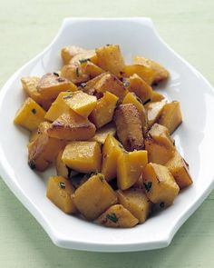 Butternut Squash With Sage Recipe from Martha Stewart