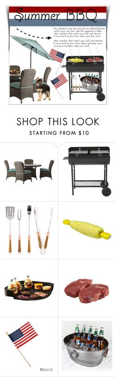 """""""Summer BBQ: 4th of July! """" by im-a-fancy-unicorn ❤ liked on Polyvore featuring interior, interiors, interior design, home, home decor, interior decorating, Home Decorators Collection, Schmidt Brothers, Chef'n and Emile Henry"""