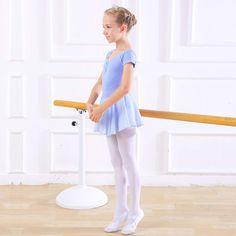 inlzdz Kids Girls Ballet Basic Wrap Skirt with Tie Waist Chiffon Tutu Dress Gymnastics Leotard Dancewear