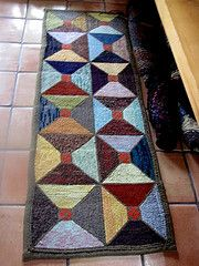 hand hooked rug - love the impact of this rug