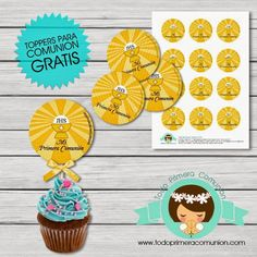 Imprimible Gratis: Toppers para Comunión | Todo Primera Comunión School Worksheets, First Holy Communion, Holi, Mickey Party, Free Downloads, Printables, Day Planners, Holi Celebration, First Communion