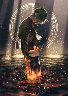 楢崎 on ref - color style Manga Art, Manga Anime, Anime Art, Fantasy Male, Touken Ranbu Characters, Anime People, Hot Anime Guys, Fanarts Anime, Handsome Anime