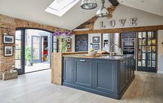 Project 19 – Wighill – The Main Company Cosy Kitchen, Barn Kitchen, Farmhouse Style Kitchen, New Kitchen, Kitchen Ideas, Kitchen Island, Open Plan Kitchen Diner, Open Plan Kitchen Living Room, Kitchen Furniture