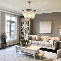 Birch Lane: Farmhouse & Traditional Furniture - Made to Last Living Room Lounge, Living Room Modern, Living Room Designs, Living Room Decor, Living Rooms, Country Bedroom Design, Chandelier In Living Room, Furniture Arrangement, Great Rooms