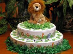 JUNGLE SAFARI favor cake boxes and centerpiece  by shadow090109, $69.99