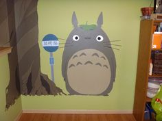 My friend Kate's ridiculously awesome Totoro mural.
