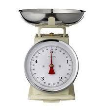 Bascula mecánica:Instrumento para pesar en kilos y gramos