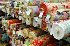 My idea of a vacation - visiting a 5 story fabric store! (Tokyo's Fabric Town)