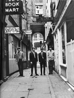 The Beatles in London in an area they chose because it felt like Liverpool to them.