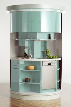 Spinning kitchen for small spaces - cool! From Compact Concepts.