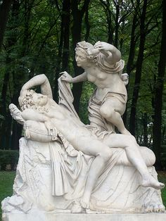 Cupid and Psyche in Summer Garden. Saint-Petersburg, Russia