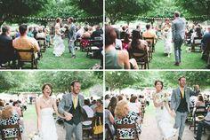 Dancing down the isle  Crafty Reclaimed Wood Wedding: Chase + Aaron