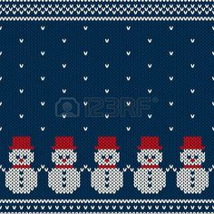 Illustration of Winter Holiday Seamless Pattern vector art, clipart and stock vectors. Christmas Knitting Patterns, Christmas Embroidery, Baby Knitting Patterns, Knitting Designs, Knitting Projects, Cross Stitch Borders, Cross Stitch Charts, Cross Stitch Designs, Cross Stitch Patterns