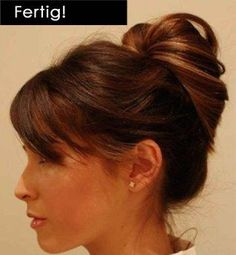 Hair Updo Easy hair updo - pull a high ponytail through itself!Easy hair updo - pull a high ponytail through itself! My Hairstyle, Pretty Hairstyles, Hairstyle Tutorials, Easy Work Hairstyles, Elegant Hairstyles, Everyday Hairstyles, Shag Hairstyles, Wedding Hairstyles, Easy Professional Hairstyles