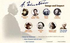 Albert Einstein - Image and Impact [ENTER exhibit] @ http://www.aip.org/history/einstein/ .