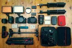 "154 Gostos, 5 Comentários - Josh Gore (@thegorinator) no Instagram: ""The current @3jtproductions filming arsenal. . #Canon #GoProHero5 #Aputure #Neewer"""
